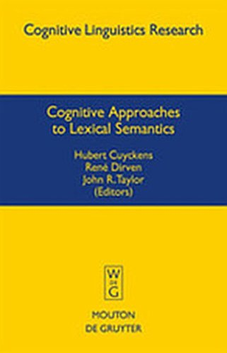 9783111732817: Cognitive Approaches to Lexical Semantics (Cognitive Linguistics Research)