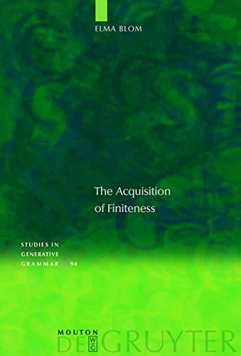 9783111738680: The Acquisition of Finiteness (Studies in Generative Grammar [Sgg])