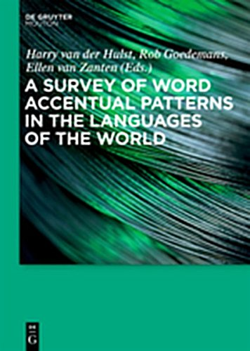 9783111740782: A Survey of Word Accentual Patterns in the Languages of the World