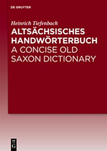 9783111745091: Altsachsisches Handworterbuch / A Concise Old Saxon Dictionary (German Edition)