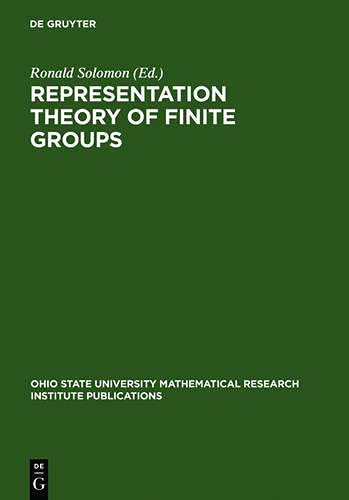 9783111747941: Representation Theory of Finite Groups: Proceedings of a Special Research Quarter at the Ohio State University, Spring 1995