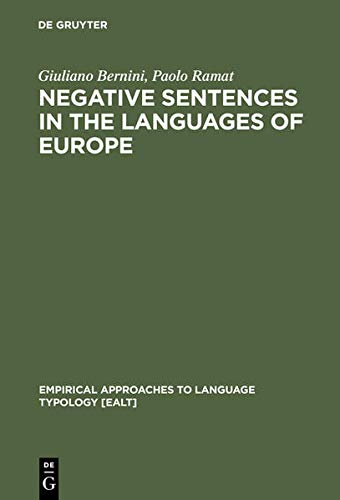 9783111748603: Negative Sentences in the Languages of Europe: A Typological Approach