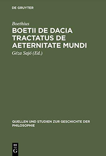 9783111758572: Boetii de Dacia Tractatus de Aeternitate Mundi