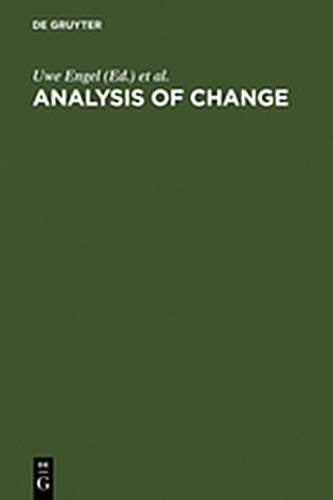 9783111766041: Analysis of Change: Advanced Techniques in Panel Data Analysis