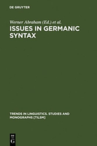 9783111789668: Issues in Germanic Syntax (Trends in Linguistics. Studies and Monographs [Tilsm])