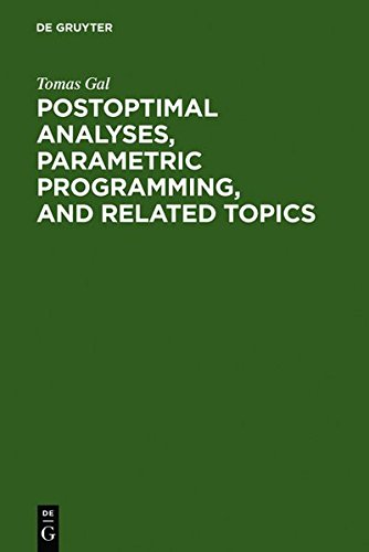 9783111795041: Postoptimal Analyses, Parametric Programming, and Related Topics: Degeneracy, Multicriteria Decision Making, Redundancy