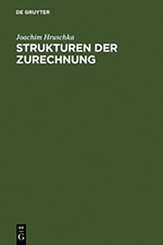 9783111799520: Strukturen Der Zurechnung