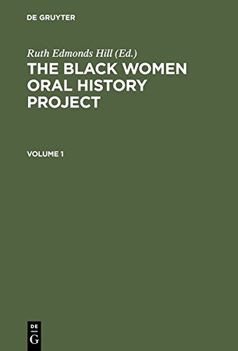 9783111843919: The Black Women Oral History Project