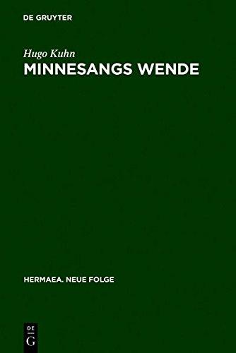 9783111853437: Minnesangs Wende (Hermaea. Neue Folge)