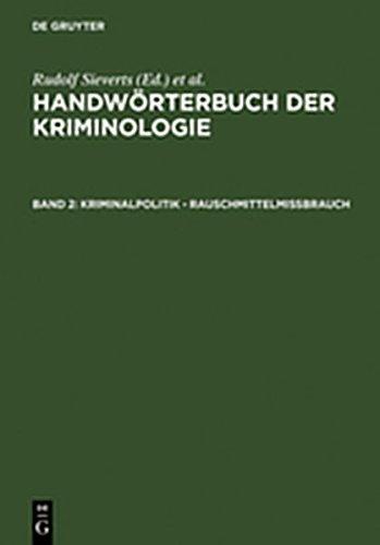 9783111856438: Kriminalpolitik - Rauschmittelmissbrauch (German Edition)