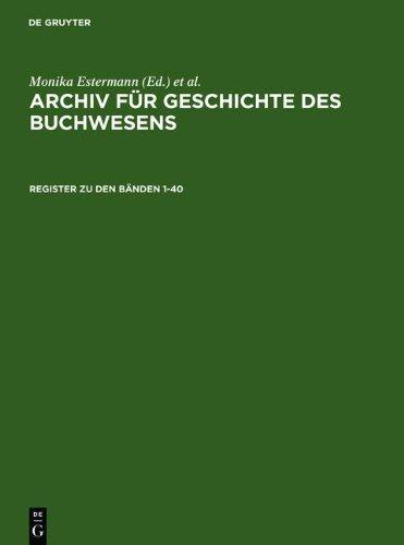9783111860107: Register Zu Den B Nden 1-40 (German Edition)