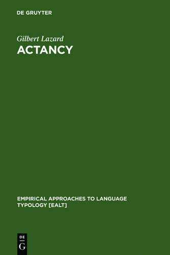 9783111869797: Actancy (Empirical Approaches to Language Typology [Ealt])