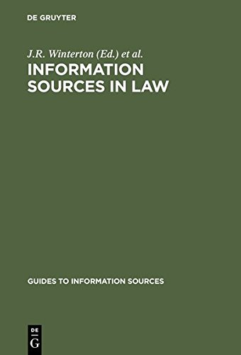 9783111881126: Information Sources in Law (Guides to Information Sources)