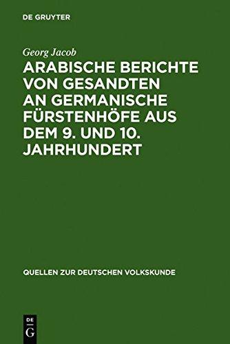 9783112131176: Arabische Berichte Von Gesandten an Germanische Furstenhofe Aus Dem 9. Und 10. Jahrhundert