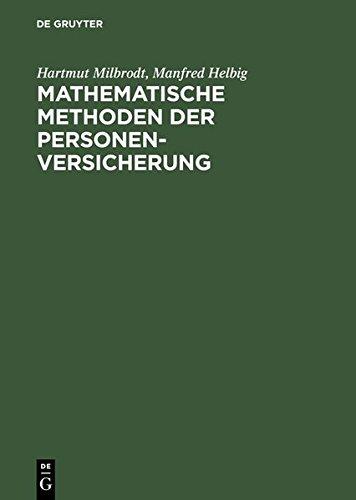 9783119162623: Mathematische Methoden Der Personenversicherung