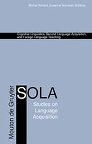 9783119164573: Cognitive Linguistics, Second Language Acquisition, and Foreign Language Teaching (Studies on Language Acquisition [Sola])