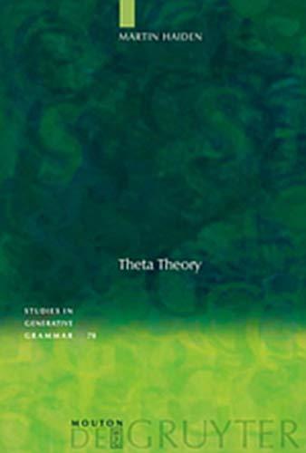 9783119166577: Theta Theory (Studies in Generative Grammar [Sgg])