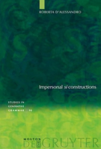 9783119166607: Impersonal SI Constructions: Agreement and Interpretation