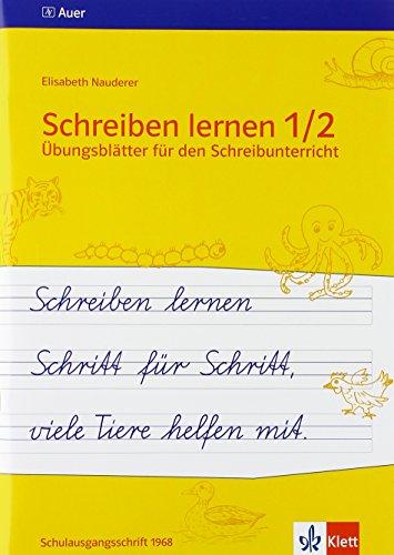 9783120023876 Schreiben Lernen 1 2 übungsblätter Für Den