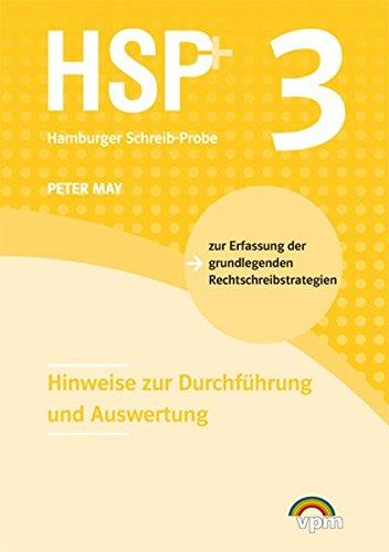 9783120101932: HSP 3: Die Hamburger Schreib-Probe. Hinweise zur Durchführung und Auswertung