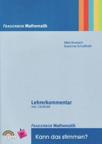 9783120116202: Fragenbox Mathematik. Kartei inkl. Lehrerkommentar + CD: Kann das stimmen?