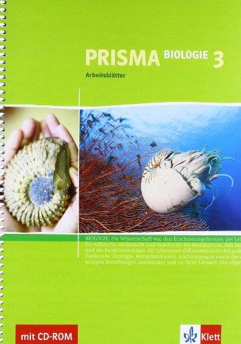 9783120683223: Prisma Biologie - Arbeitsblätter 3