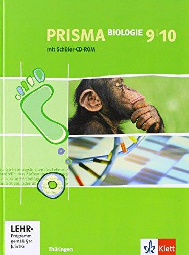 9783120683728: Prisma Biologie. Schülerbuch mit Schüler-CD-ROM 9./10. Schuljahr. Ausgabe für Thüringen