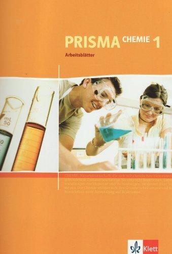 9783120685029: Prisma Chemie. Arbeitsblätter 1. Kopiervorlagen