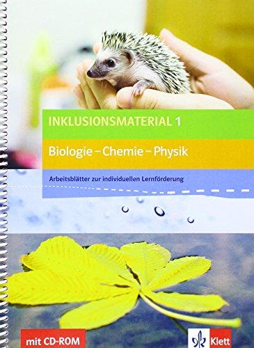 9783120686279: Inklusionsmaterial 1 Biologie - Chemie - Physik. Arbeitsblätter zur individuellen Lernförderung Klasse 5/6 mit CD-ROM