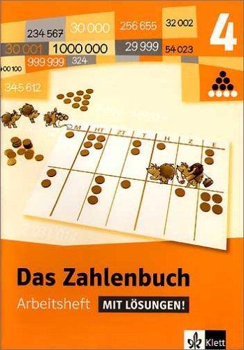 9783122004460: Das Zahlenbuch 4 - Arbeitsheft mit Losungen - Neubearbeitung / Baden-Wurttemberg, Berlin, Brandenburg, Bremen, Hamburg, Hessen, Mecklenburg-Vorpommer