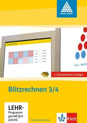 9783122009335: Das Zahlenbuch Tl 3/4. Blitzrechensoftware. Neubearbeitung. CD-ROM f�r Windows ab 98 und Mac ab G4