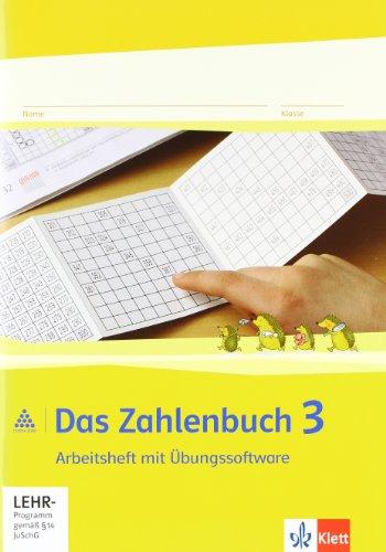 9783122016319: Das Zahlenbuch. 3.Schuljahr. Arbeitsheft mit CD-ROM. Neubearbeitung