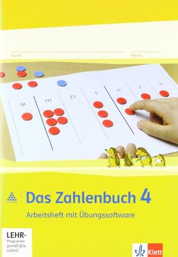 9783122016418: Das Zahlenbuch. 4.Schuljahr. Arbeitsheft mit CD-ROM. Neubearbeitung