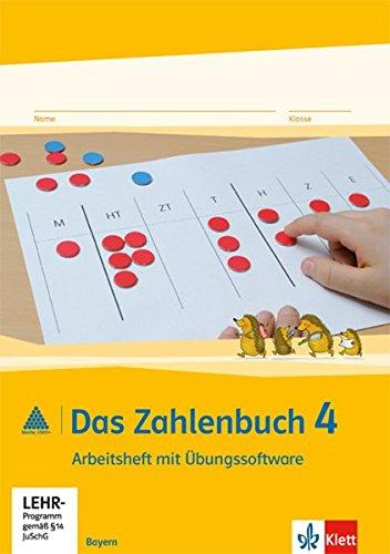 9783122016913: Das Zahlenbuch. Arbeitsheft mit CD-ROM 4. Schuljahr. Ausgabe für Bayern