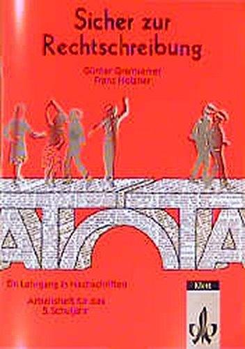 9783122191801: Sicher zur Rechtschreibung, neue Rechtschreibung, 5. Schuljahr