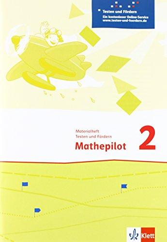 9783122366179: Mathepilot. Materialheft Testen und Fördern 2. Schuljahr