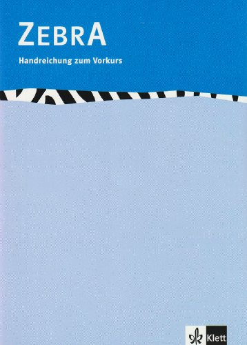 9783122706210: Zebra. Grundschule. Vorkurs. Lehrerband