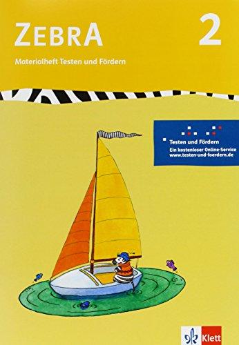 9783122706913: Zebra. Materialheft Testen und Fördern 2. Schuljahr. Neubearbeitung