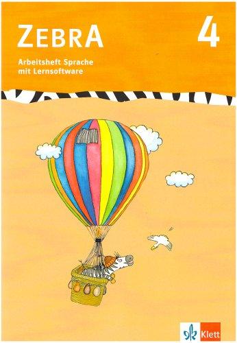 9783122707415: Zebra 4. Arbeitsheft Sprache 4. Schuljahr: Baden-Württemberg, Berlin, Brandenburg, Bremen, Hamburg, Hessen, Mecklenburg-Vorpommern, Niedersachsen, ... Sachsen, Sachsen-Anhalt, Schleswig-Holstein