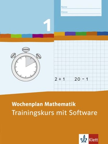 9783122801212: Wochenplan Mathematik. Trainingskurs 1. Schuljahr: Trainingskurs mit Software