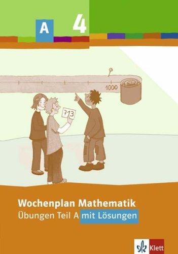 9783122804329: Wochenplan Mathematik. Übungen Teil A mit Lösungen. 4. Schuljahr