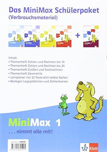 9783122805005: Mathematik MiniMax. Schülerpaket: Enthält 3 Arbeitshefte und 1 Lernplaner und Wendeplättchen