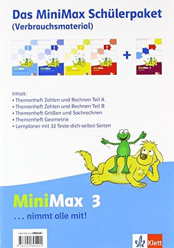9783122805401: Mathematik Minimax. Schülerpaket 3. Schuljahr Verbrauchsmaterial
