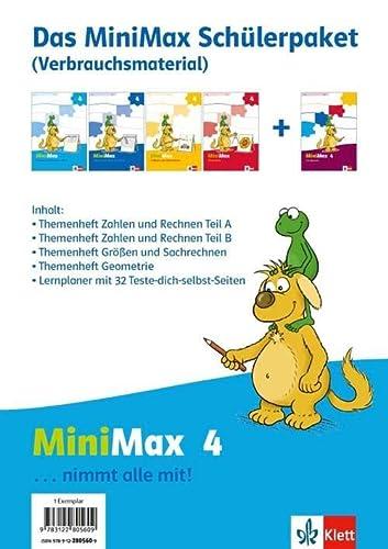 9783122805609: MiniMax. Schülerpaket 4. Schuljahr Verbrauchsmaterial. 4 Hefte
