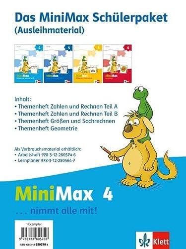 9783122805708: MiniMax .Schülerpaket 4. Schuljahr Ausleihmaterial