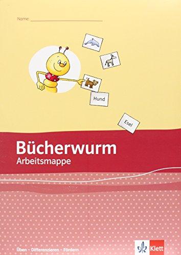 9783123107047: Die Bücherwurm Fibel. Arbeitsmappe zur Ausgabe Sachsen: Üben - Differenzieren - Fördern