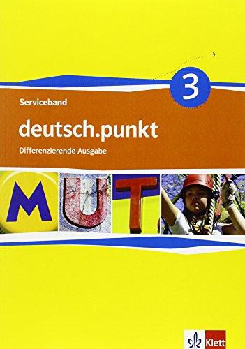 9783123138539: deutsch.punkt 3. Serviceband. Kopiervorlagen mit CD-ROM 7. Schuljahr. Differenzierende Ausgabe
