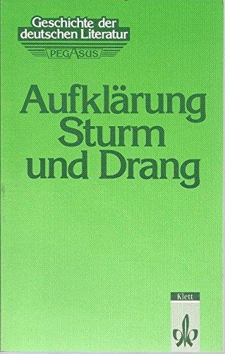 9783123474200: Geschichte der deutschen Literatur, Bd.1, Aufklärung, Sturm und Drang