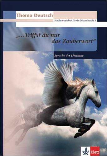 """Thema Deutsch. """" ....Triffst du nur das Zauberwort """" . Sprache der Literatur (3123474860) by Norman Thelwell"""