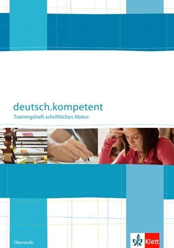 9783123504556: Deutsch.oberstufe. Trainingsheft zum schriftlichen Abitur